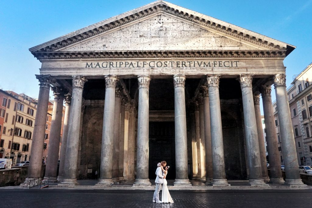 The historic Pantheon was another marriage site.