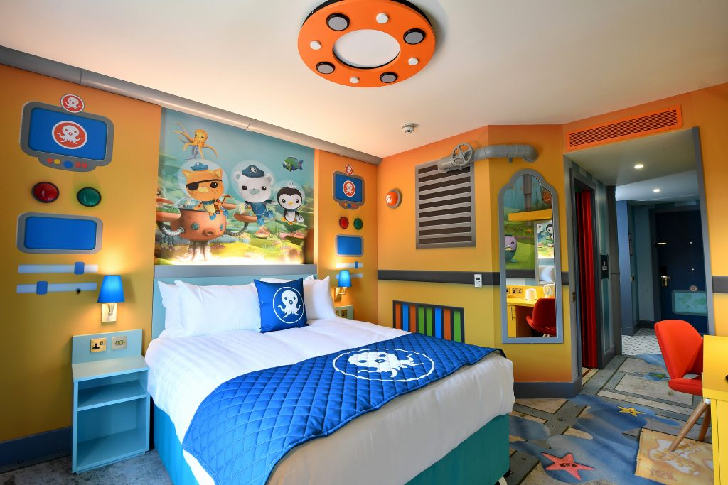 The Octonauts themed room in the hotel