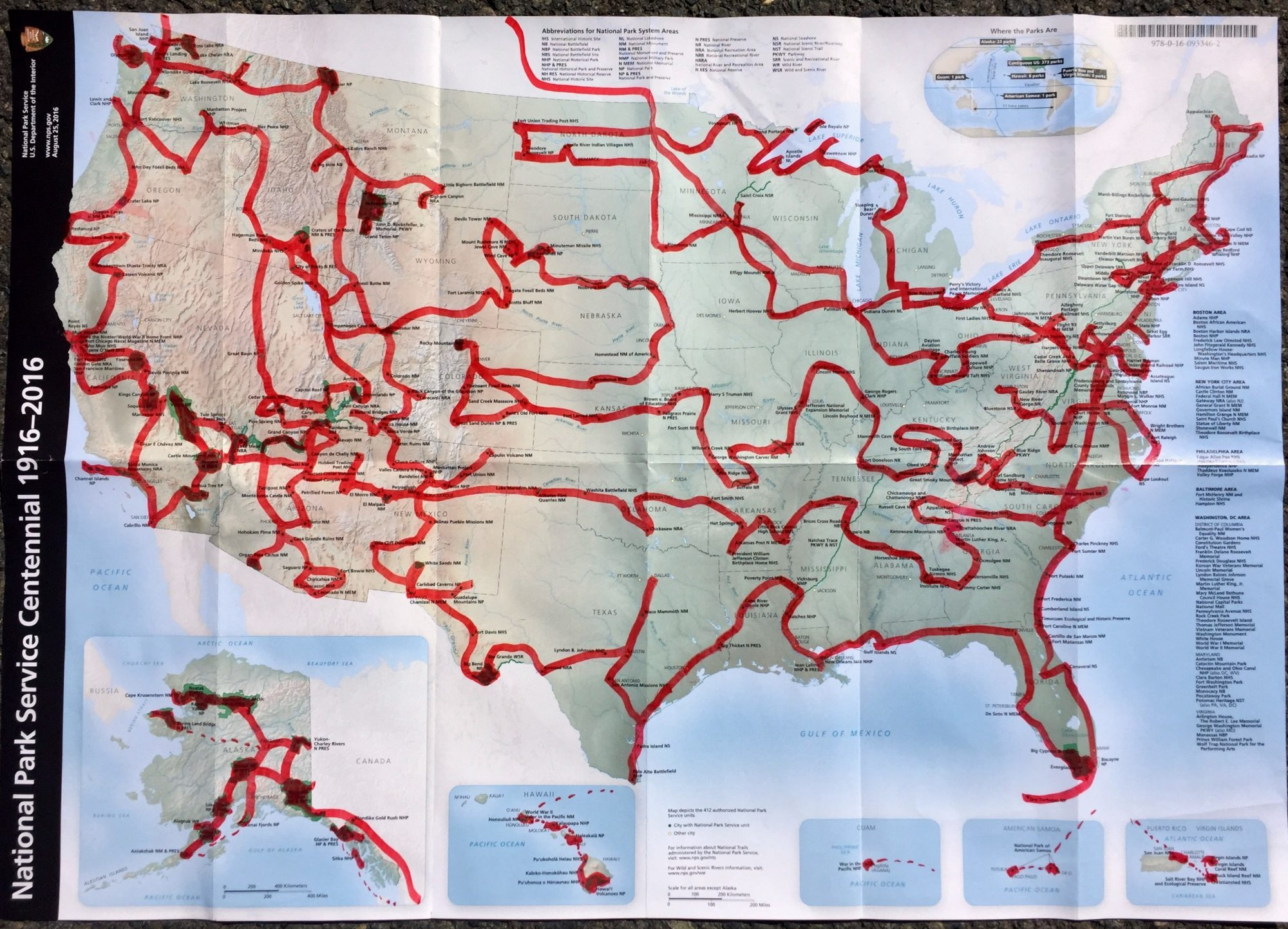 Man on three-year trip to visit all 417 national parks