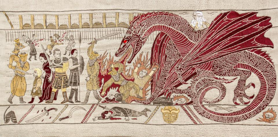 The Game of Thrones plot has been recreated in a tapestry at Ulster Museum. Image: Tourism Ireland