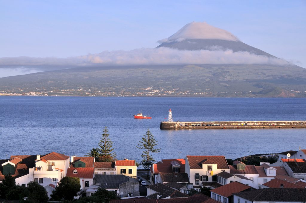 View from Horta of PIco Island.