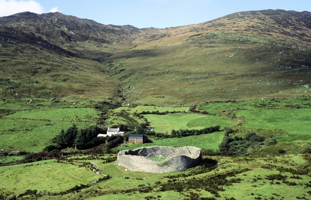 Staigue Stone Fort, near Caherdaniel, Iron Age prehistoric Stone Cashel, fort, 500BC, Ring of Kerry.