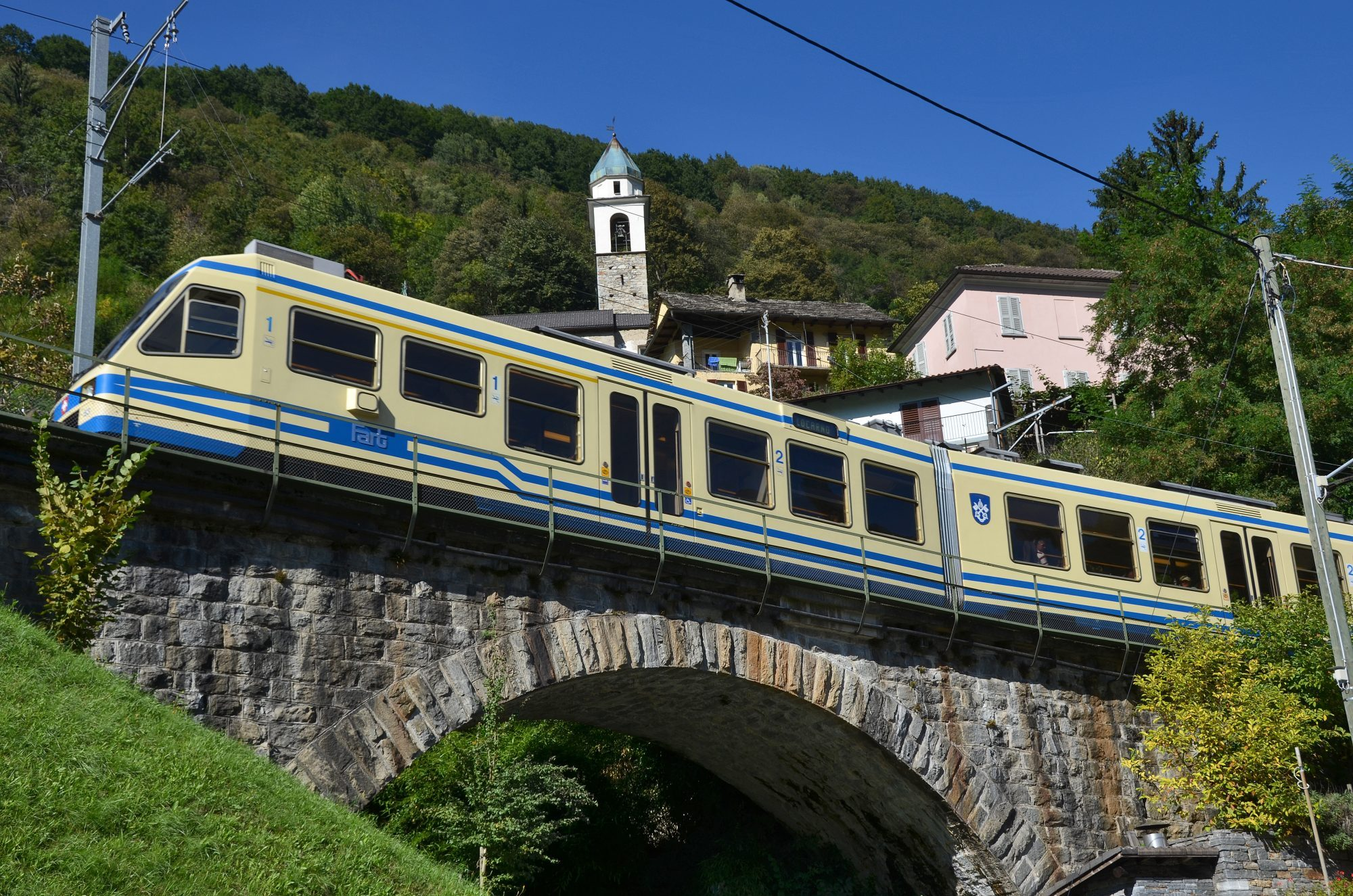 Centovalli means Hundred Valleys, The scenic train called Centovallina that joins Domodossola in Italy and Locarno in Switzerland.