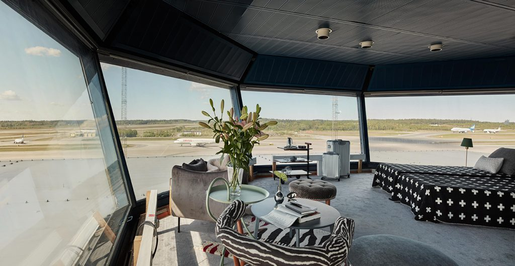 Spend a night in an abandoned ramp tower at a Swedish airport.