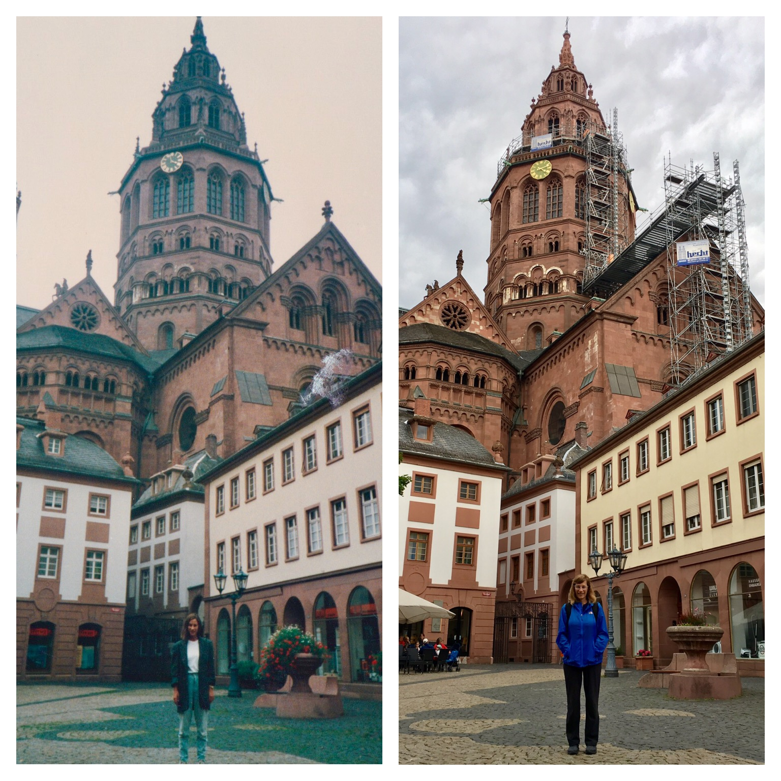 woman recreates photos from her european travels 30 years later. Black Bedroom Furniture Sets. Home Design Ideas
