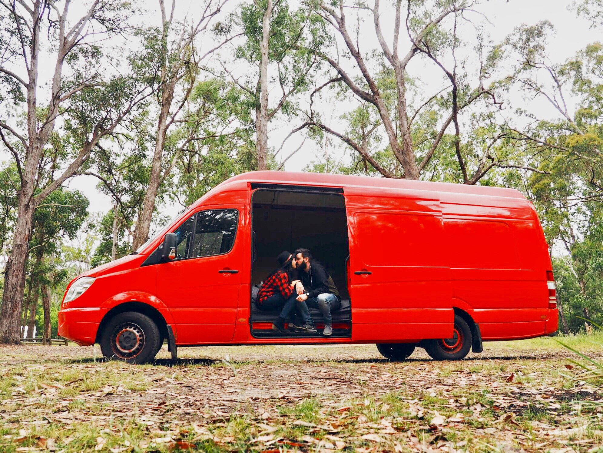 10 People On Unusual Journeys Around The World With Their Van Volkswagen Panel Red Motor German Australian Couple Travelling In A Converted Ex Postal Delivery
