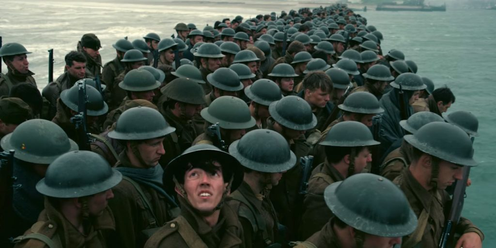 A scene from the upcoming film Dunkirk.