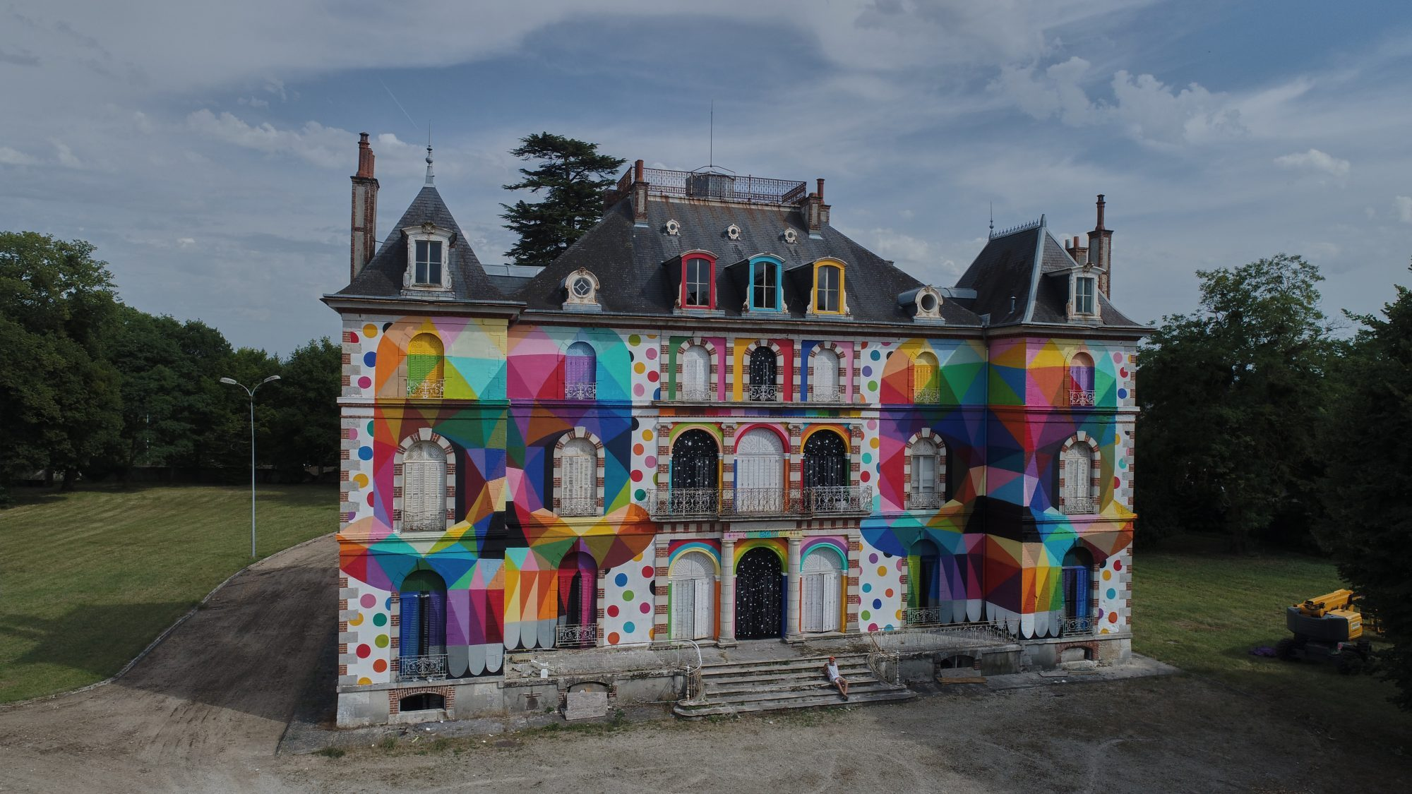 A Spanish pop artist gave this 19th century French castle a psychedelic makeover