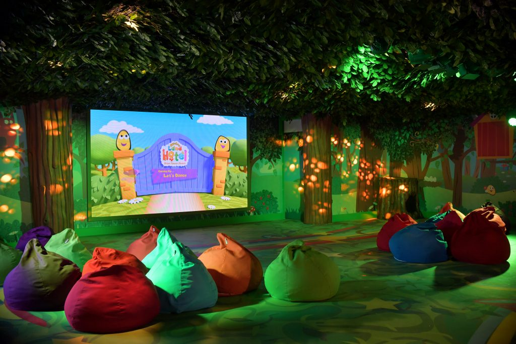 This is the musical meadow where the children can relax