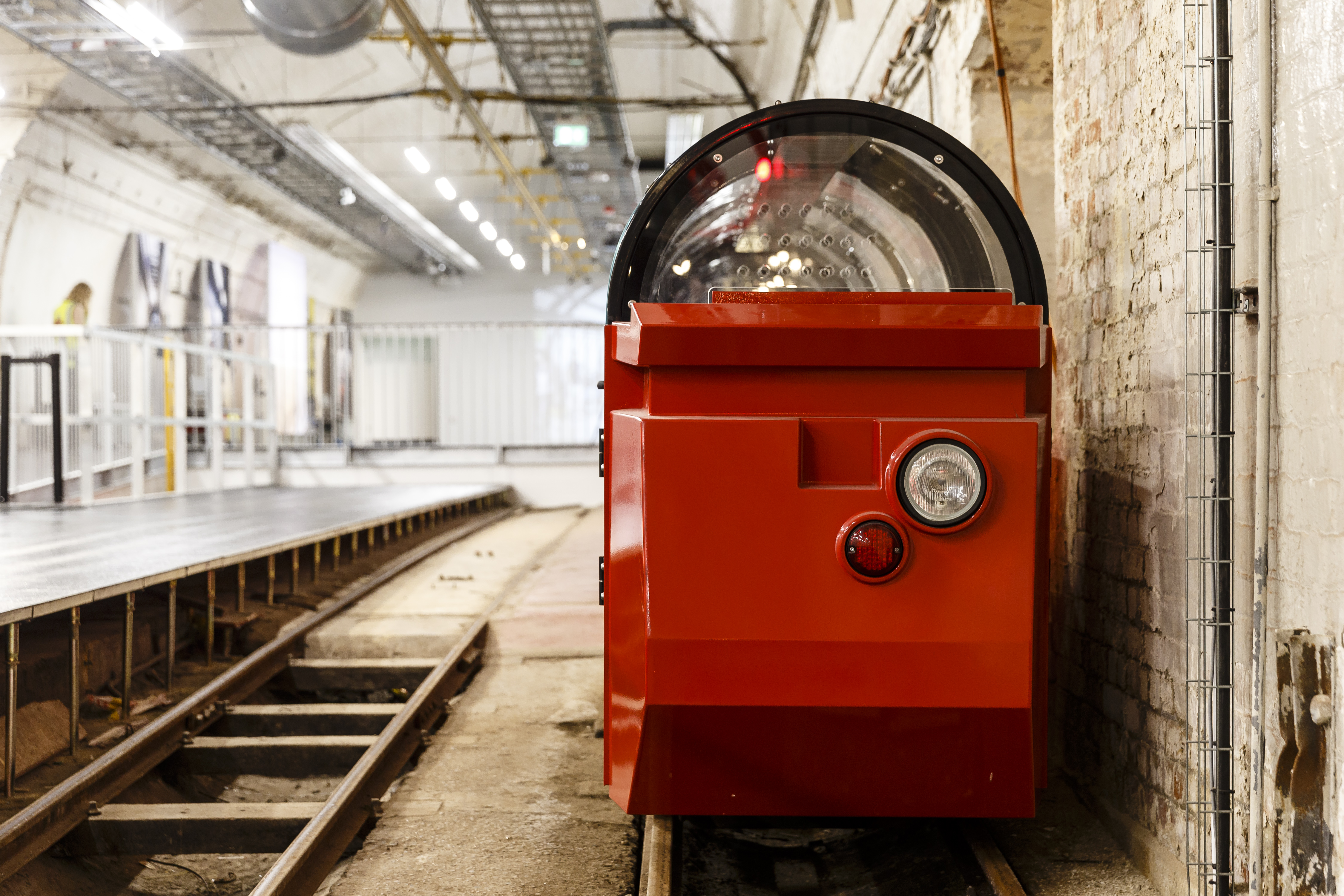The new Mail Rail passenger train at The Postal Museum will open in September.