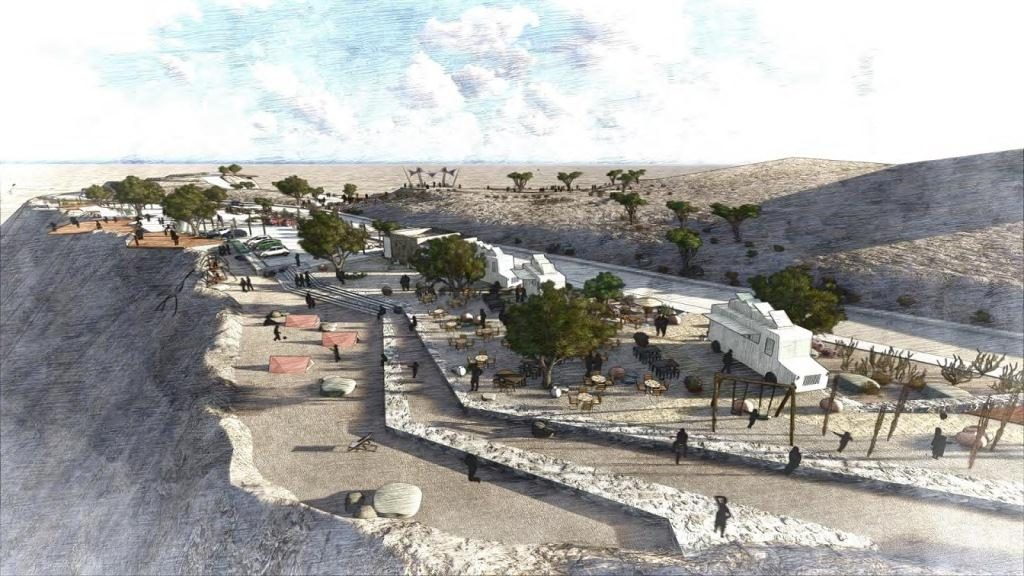 A rendering of the new observation deck that will be built in Jebel Jais.