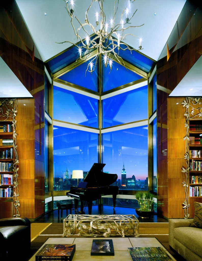Ty Warner Penthouse at Four Seasons in New York, USA costs $50,000 per night. Image courtesy of Elite Traveler