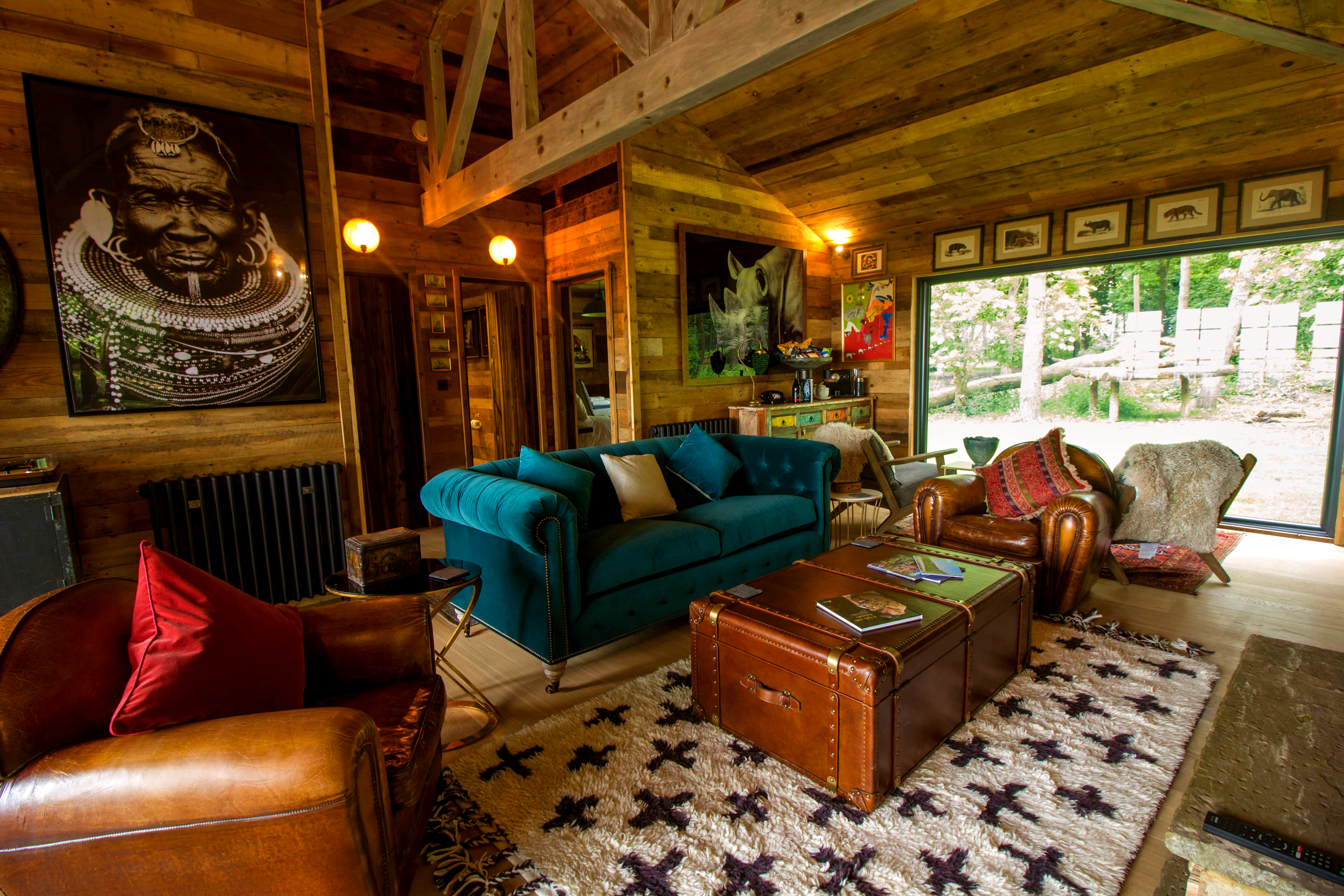 The Interior Of Tiger Lodge At Port Lypne Reserve In Kent