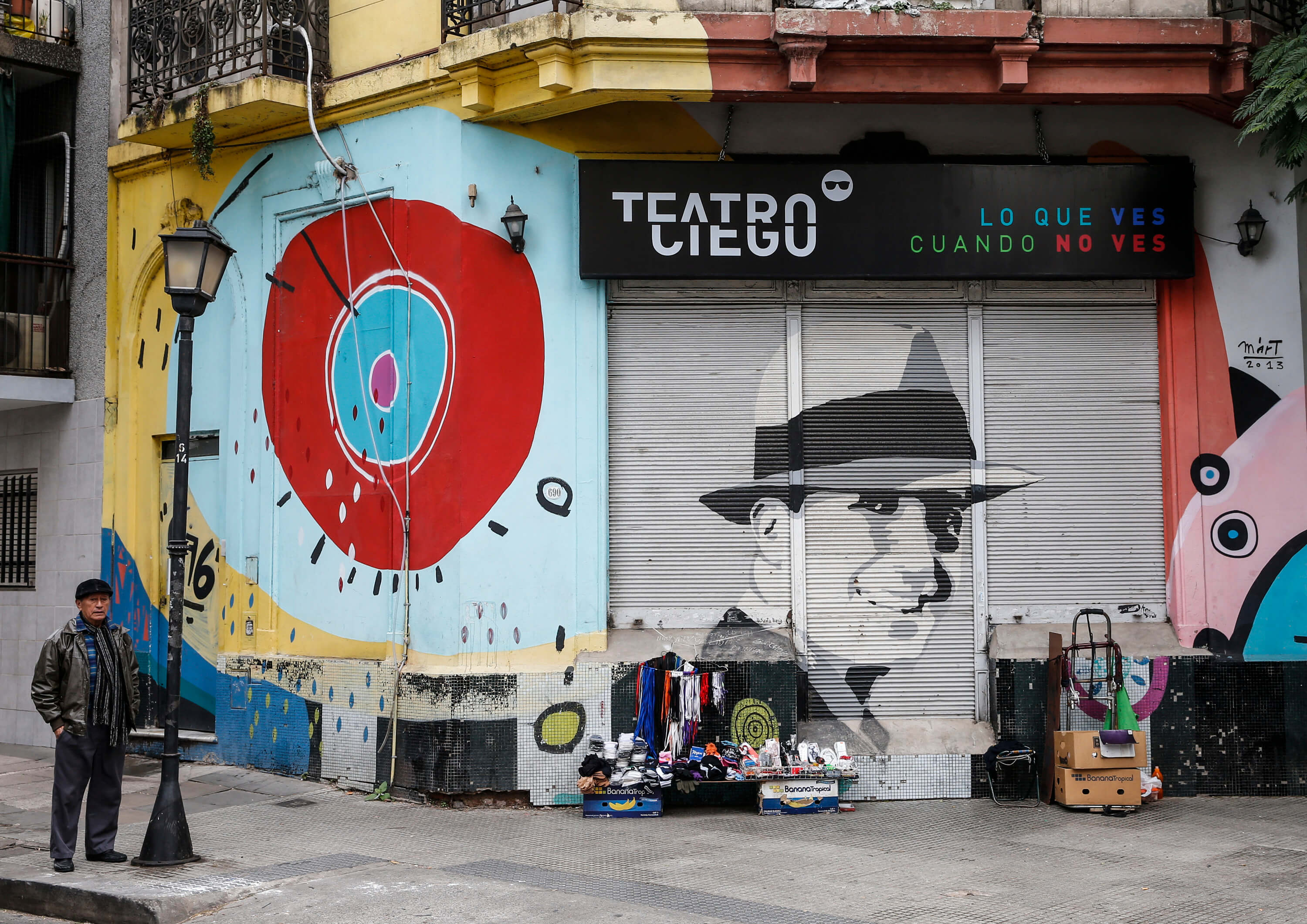 A mural of the singer in the Abasto neighbourhood. Image by Gabriel Rossi/LatinContent/Getty Images