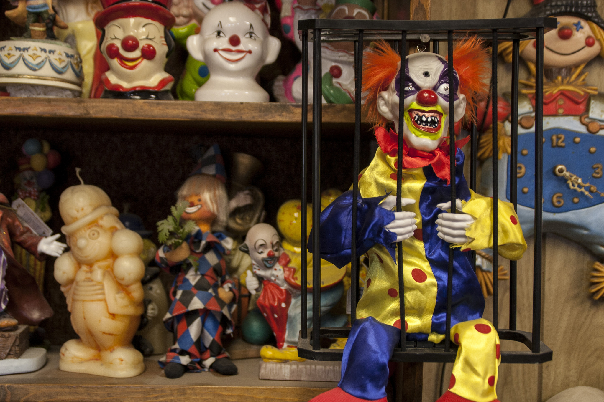 The foyer of the Clown Motel in Nevada is the stuff of nightmares.