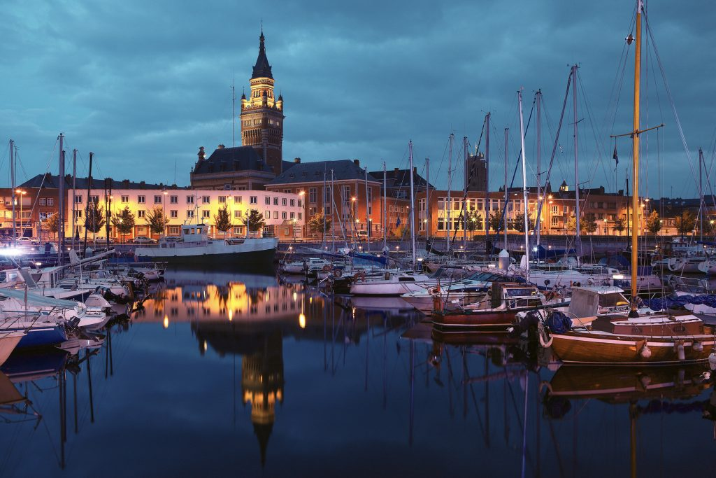 Dunkirk harbour in Northern France.