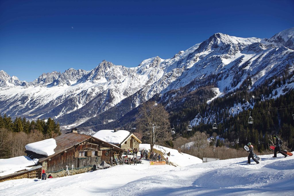 Les Vieilles Luges occupies a 250-year-old farm chalet high on the slopes above the village of Les Houches, near Chamonix.