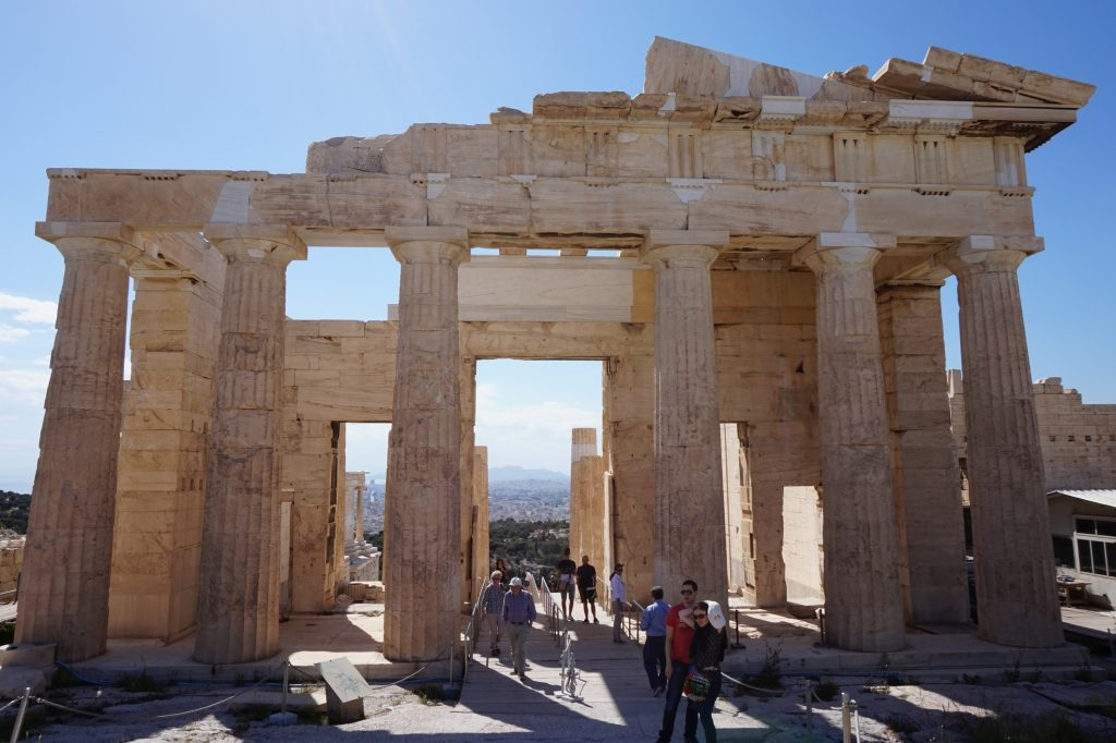 "Propylaea ""Gateway"" Building, located in the old Acropolis Citadel."