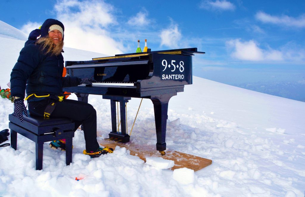 Elisa breaks the record for highest piano concert in the world. Image by Joseph Giachino