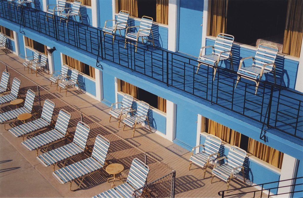 Photographed in 2005, Havens captures the rhythm and symmetry of the Blue Marlin Motel built in 1962.