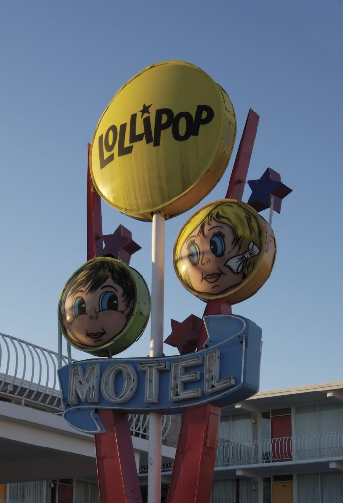 The whimsical sign of the Lollipop Motel in North Wildwood has been a beacon to guests since 1959.
