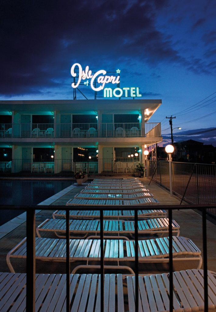 Many Wildwood motels took their names from exotic vacation locales like the Isle of Capri, photographed in 2006.