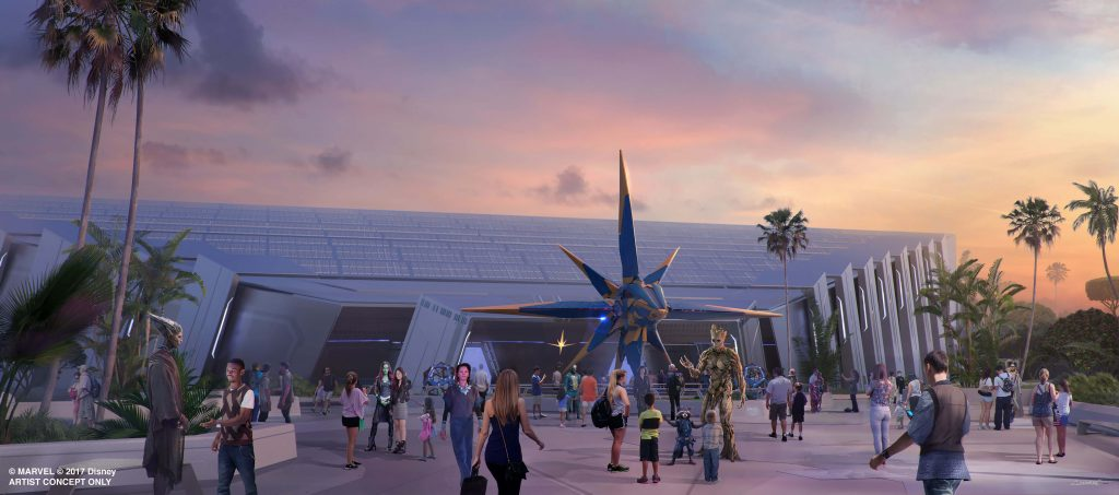 The new Guardians of the Galaxy ride will reinvigorate Epcot. Image by Disney