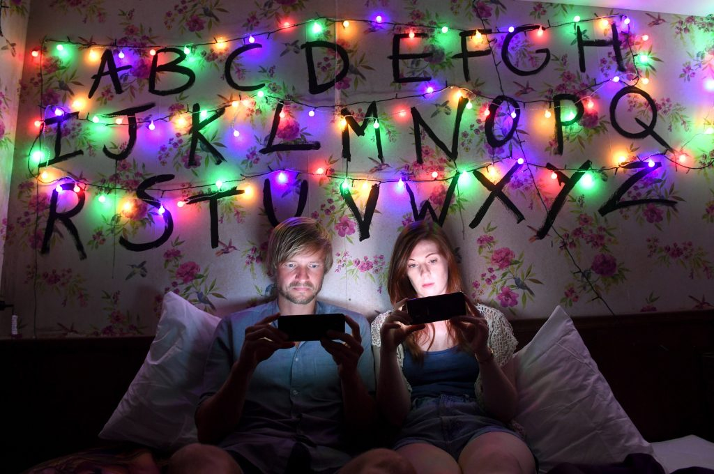 Hang out inside of a Stranger Things-themed room and catch up (or re-watch) the series.