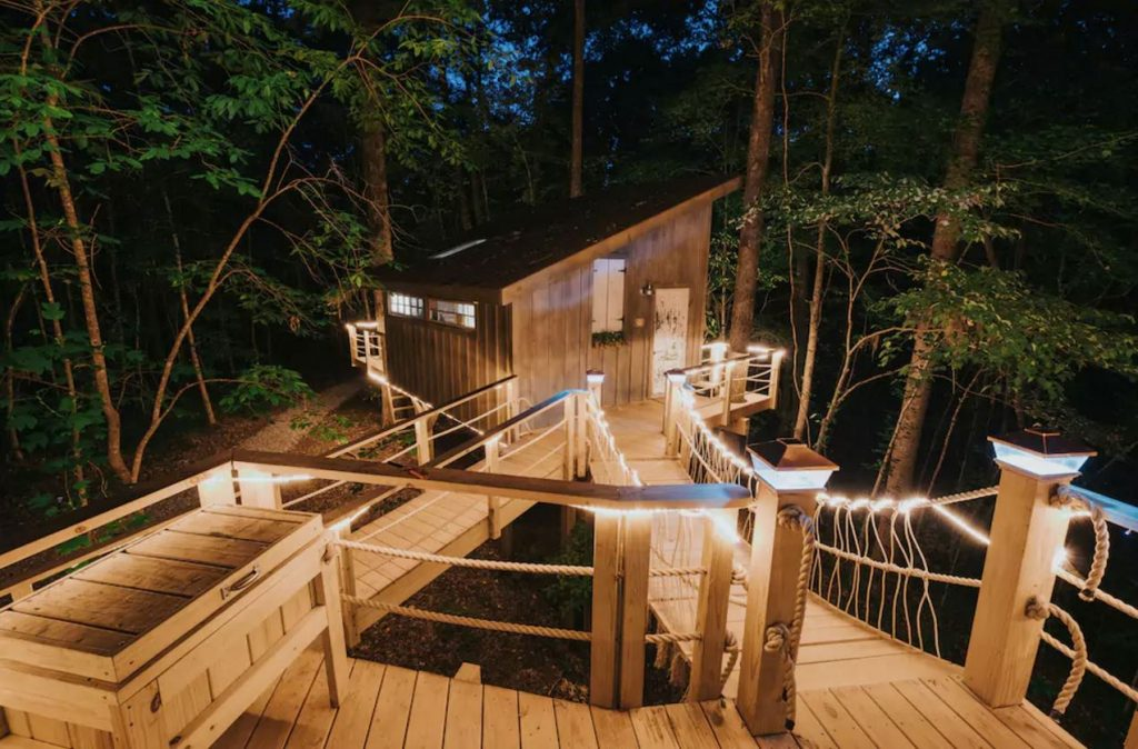 Spend a night in this elaborate treehouse.