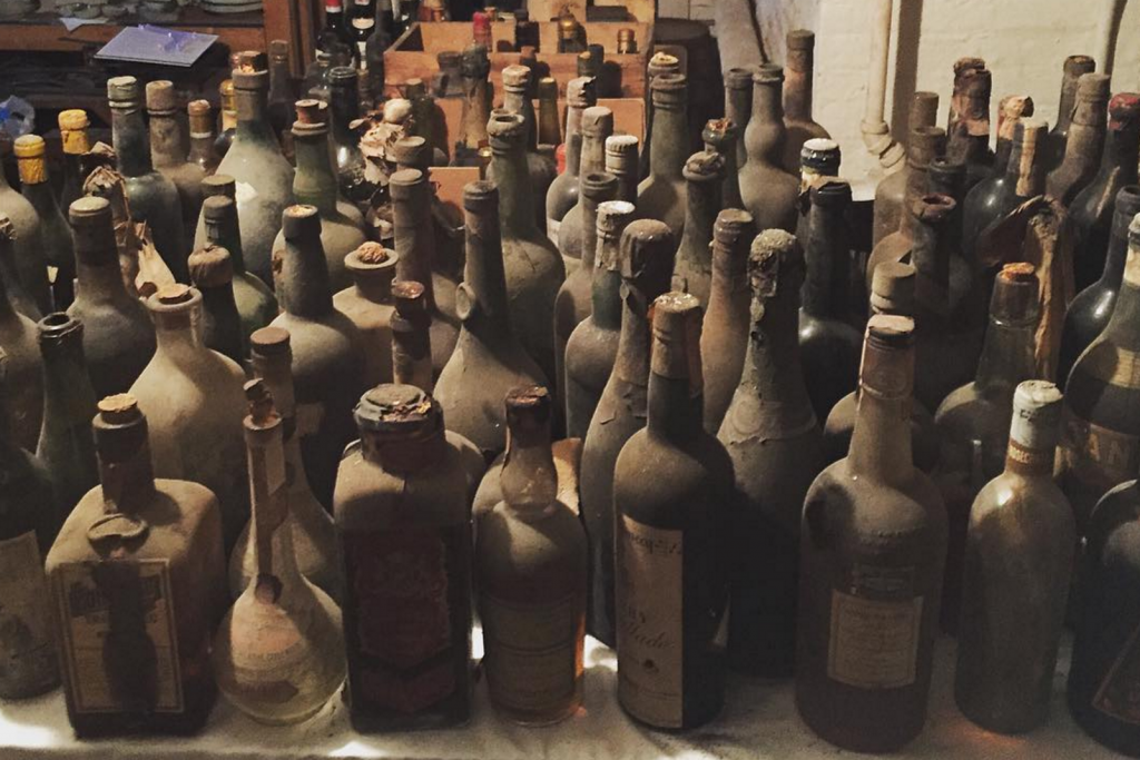 Staff at Liberty Hall Museum discovered wine dating back to 1796 in its cellars. Image: Liberty Hall Museum