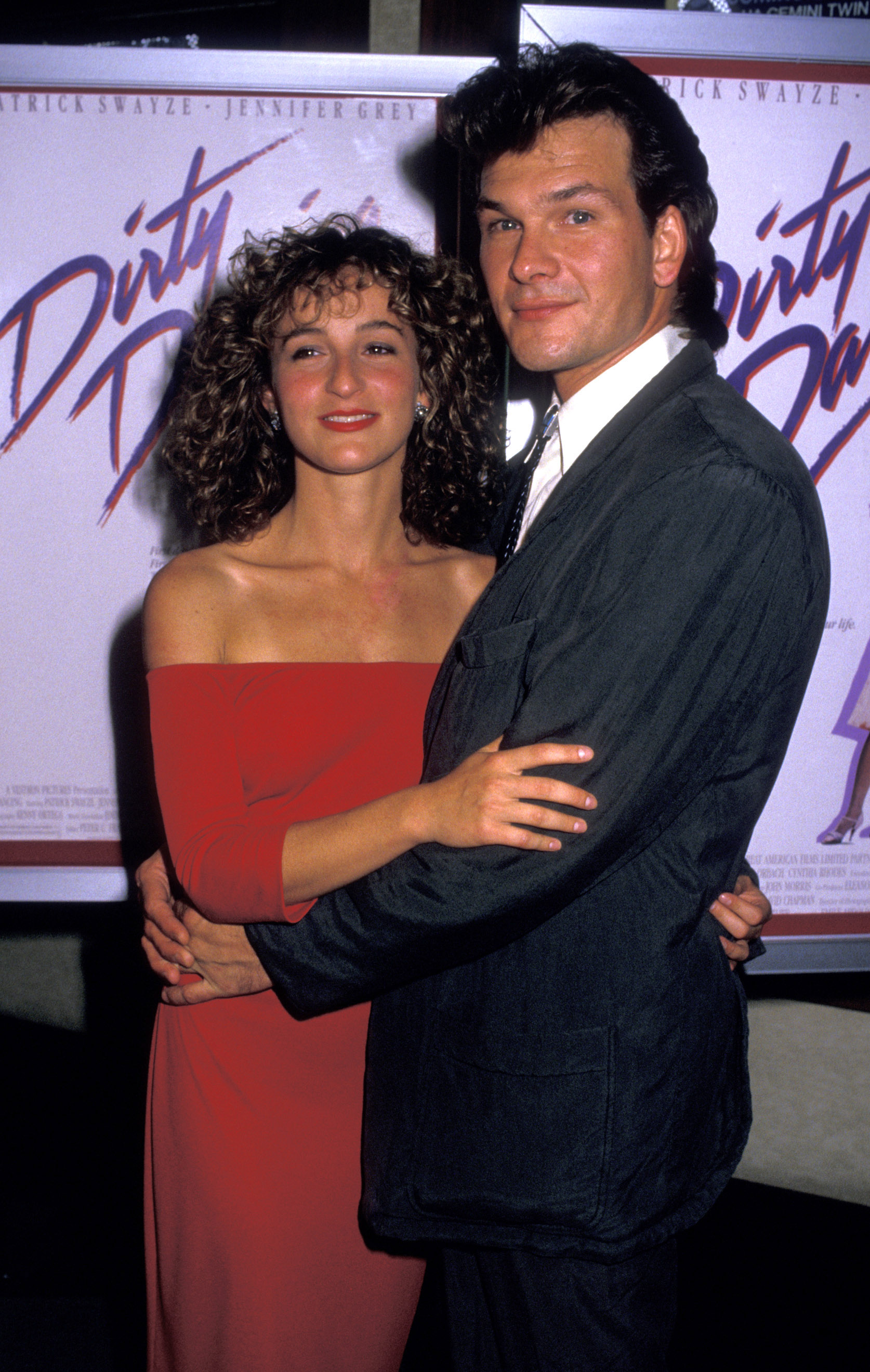 The stars of Dirty dancing, Jennifer Grey and Patrick Swayze in 1987