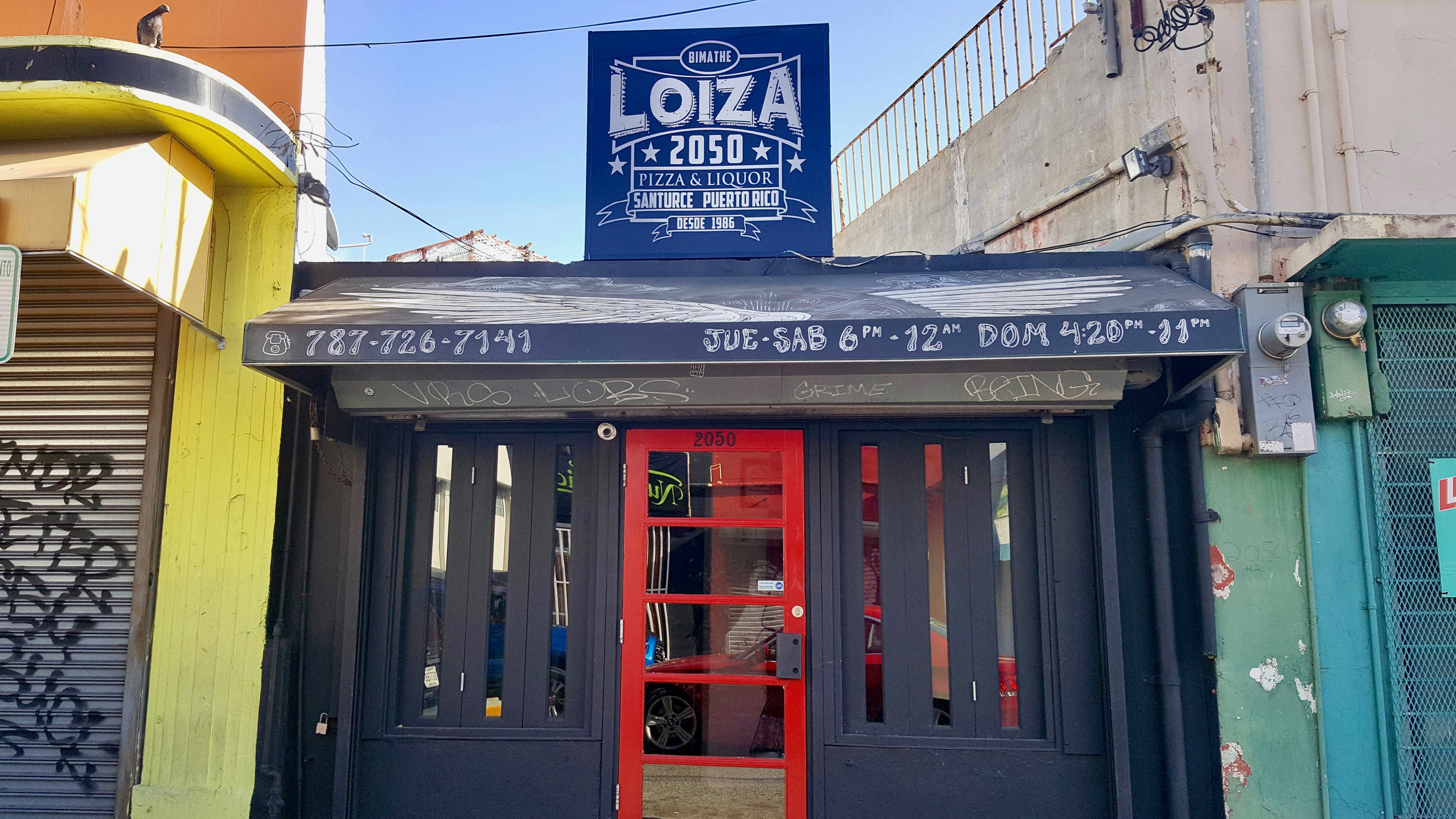 Loiza 2050: famous for its coconut-crusted pizza
