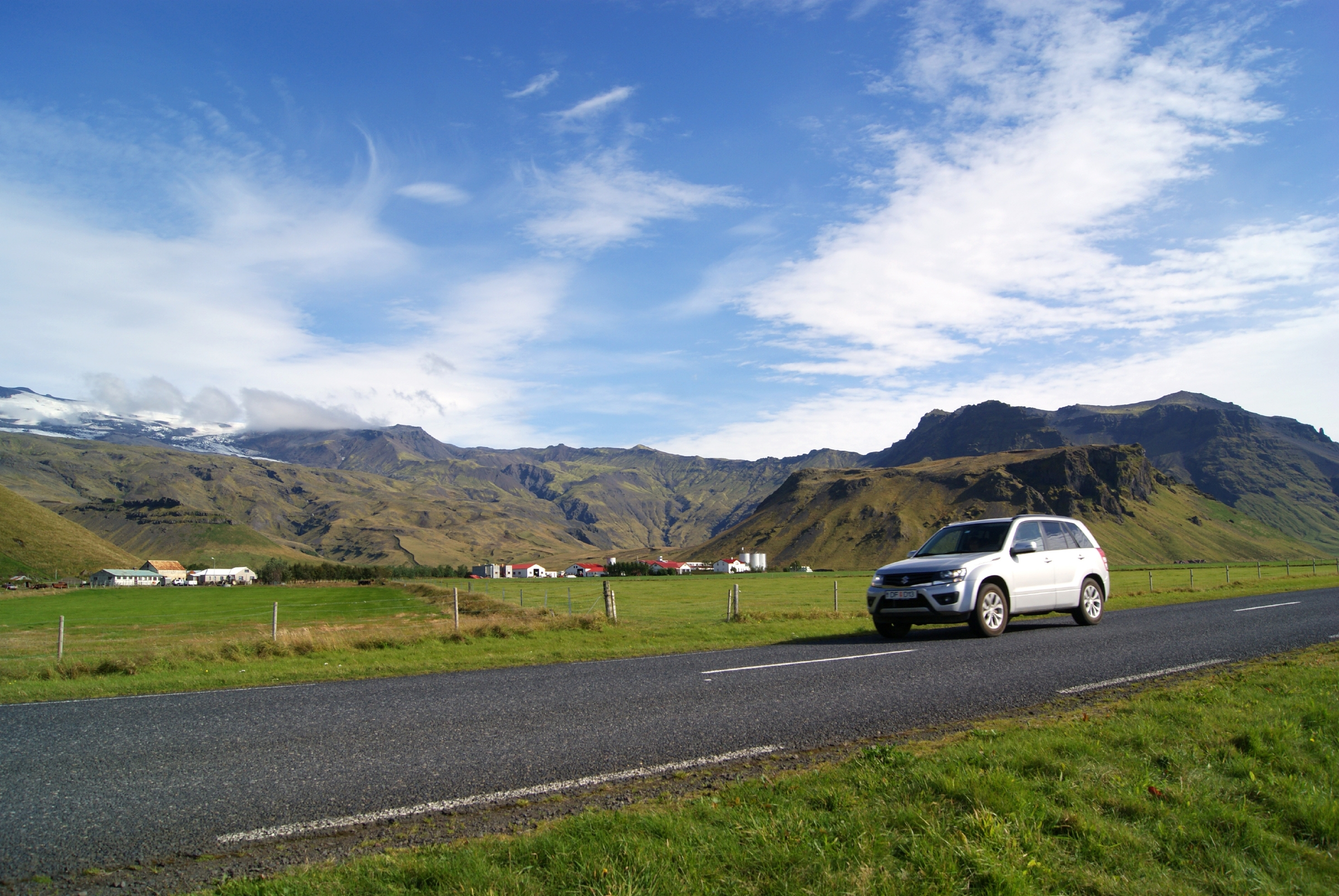 Route 1, also known as the Ring Road, in the shadow of the Eyjafjallajökull volcano. Image: Heather Carswell/Lonely Planet