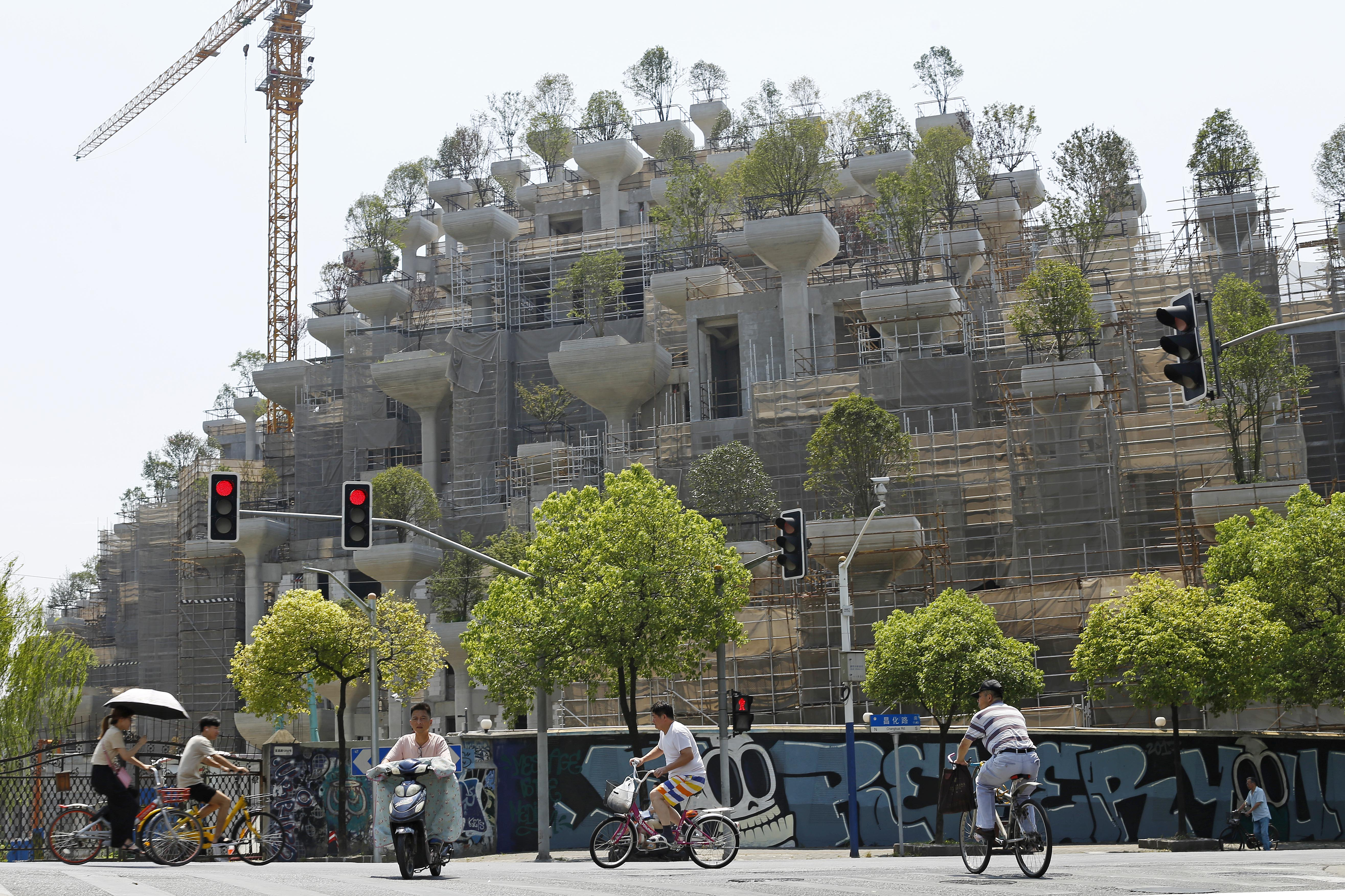 The '1000 Trees' project is being compared to the Hanging Gardens of Babylon