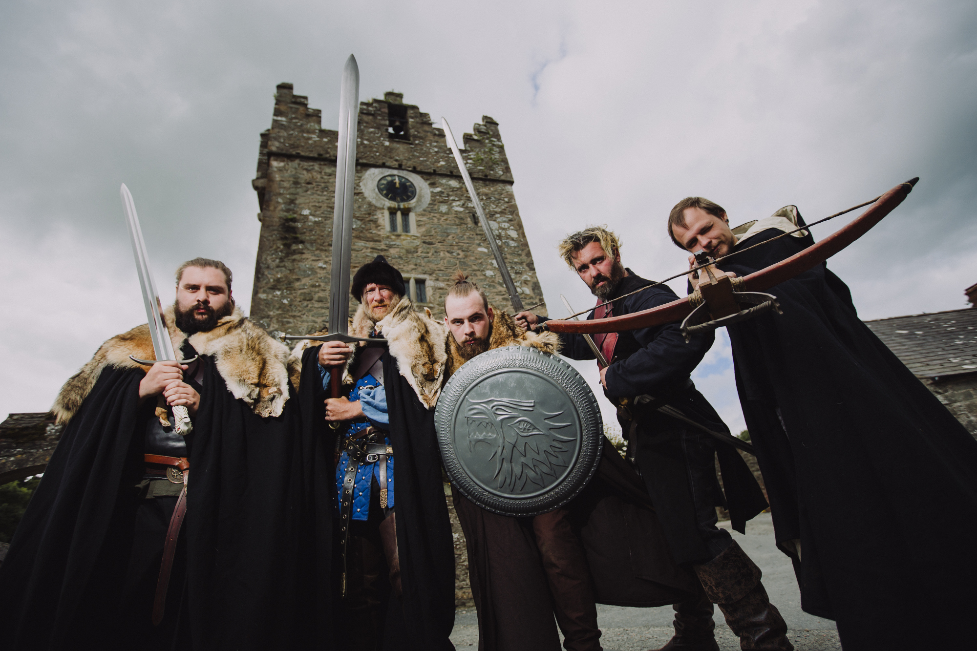 Actors at Castle Ward in Northern Ireland for the Winterfell Festival 2017