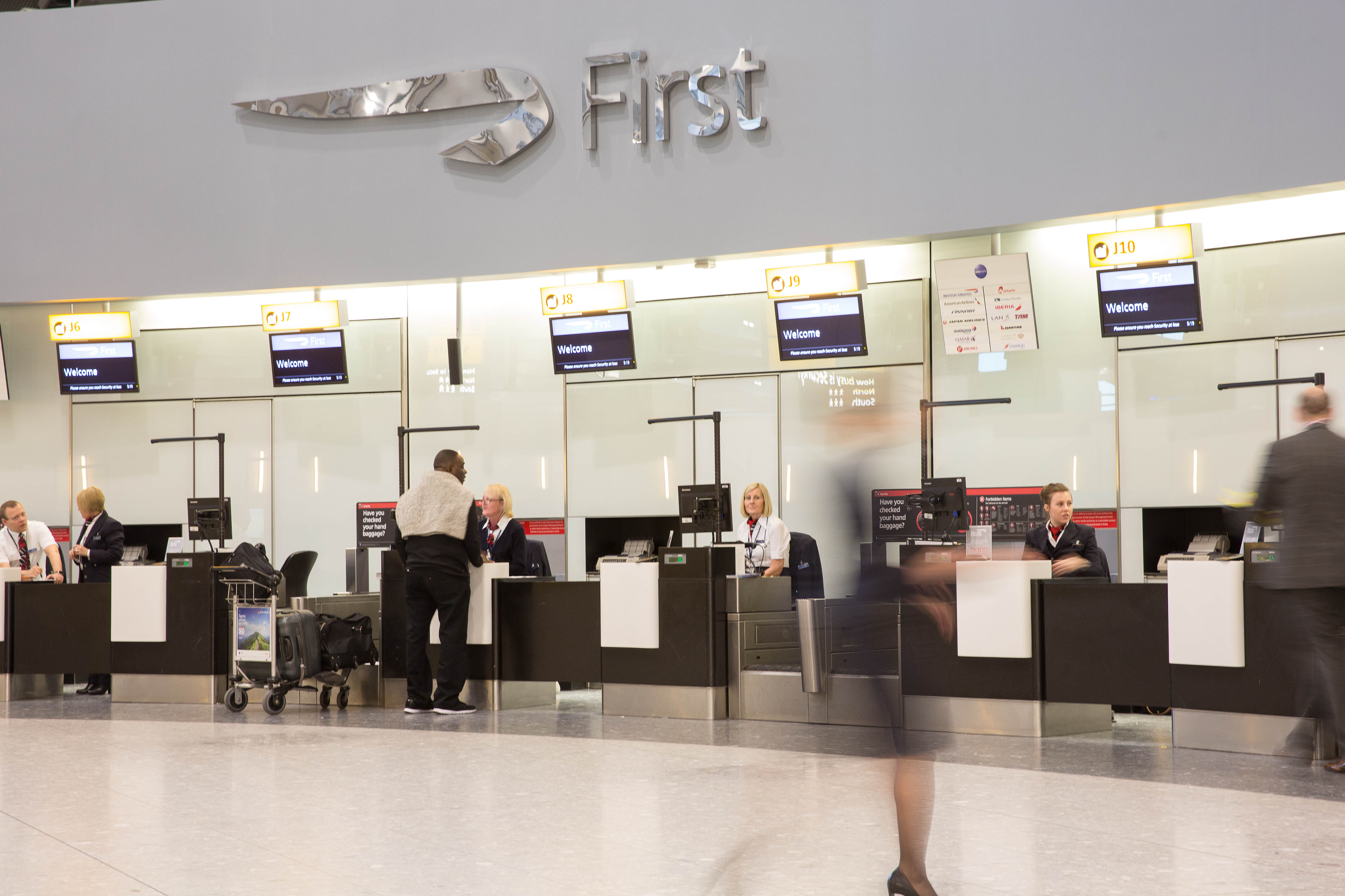 British Airways reveals its private check-in lounge at Heathrow