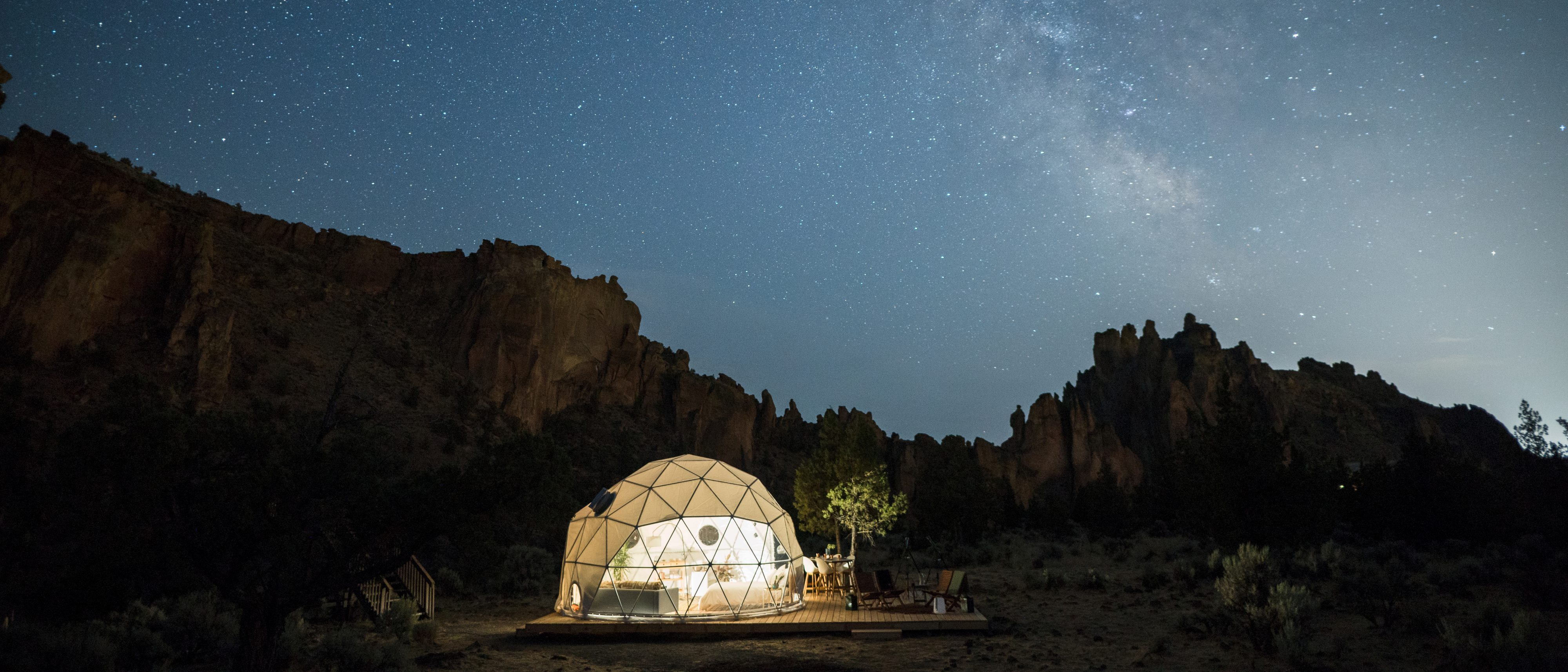 The geodesic dome at night airbnb competition