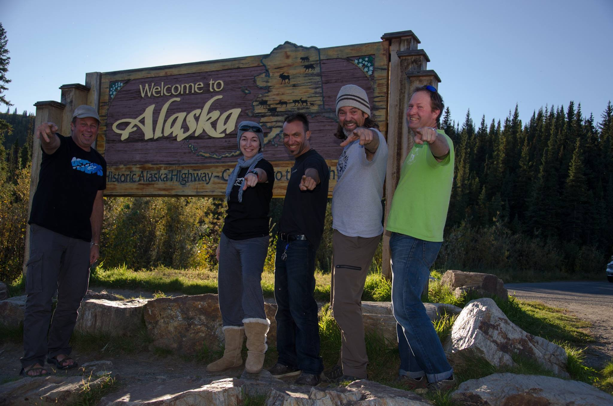 Expedition members in Alaska 2016