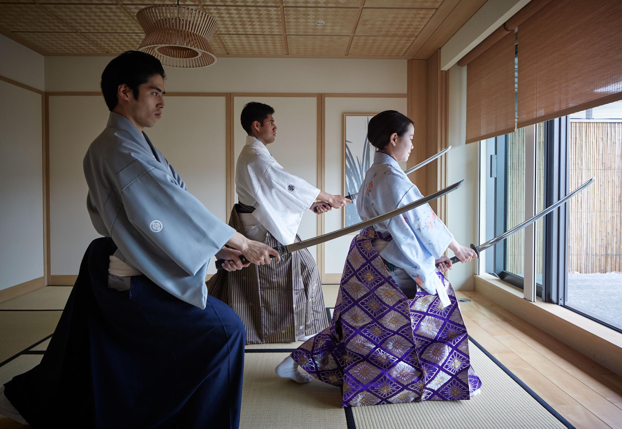The Ritz-Carlton Kyoto offers special classes in Japanese sword dancing.