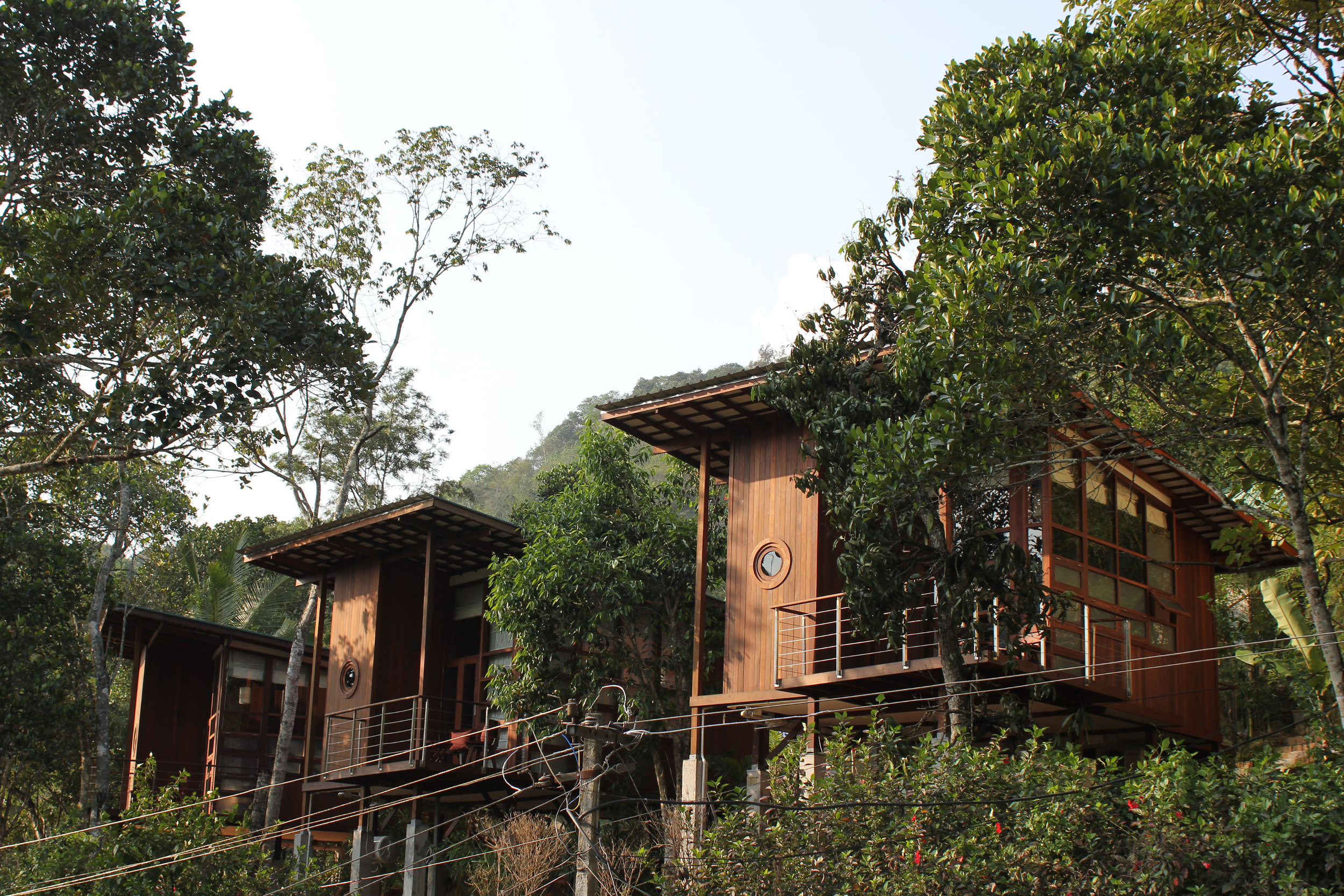 The Cardamom Club cabins in Thekkady, Kerala.