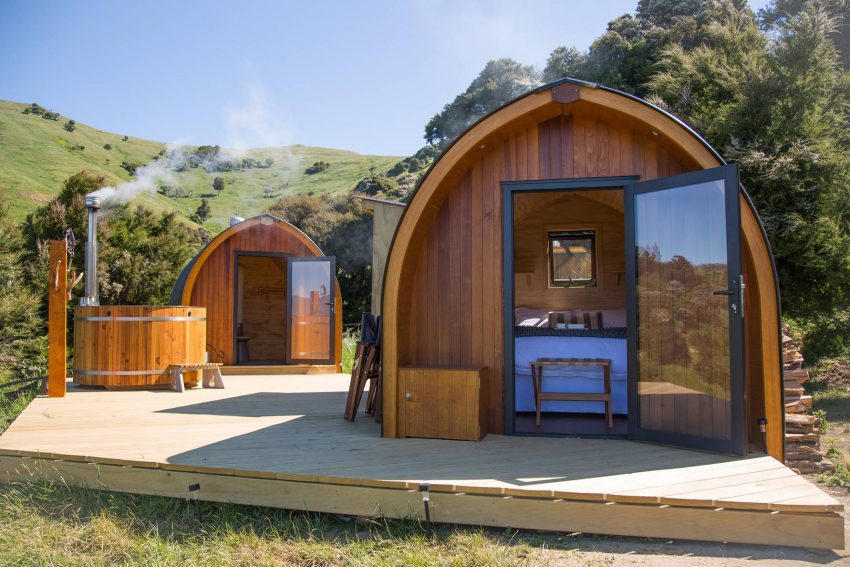 Stay In Cosy Pods And Soak In Wooden Outdoor Hot Tubs In