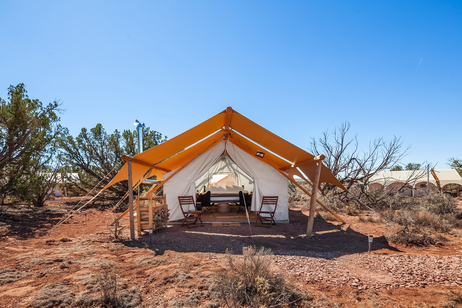 Sleep in a tent next to the Grand Canyon at this luxury