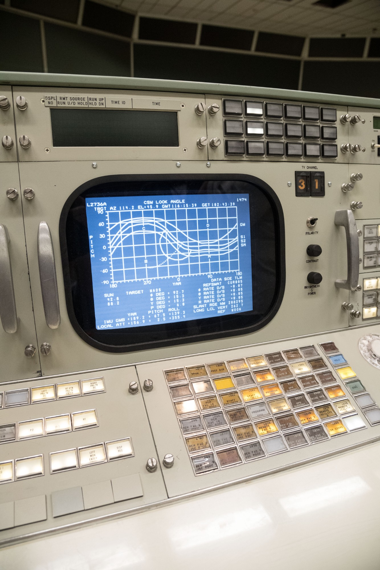 A monitor and control panel