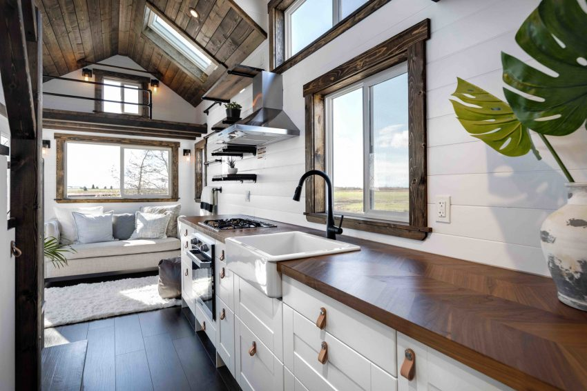 This portable tiny house belies its size with clever and stylish interiors