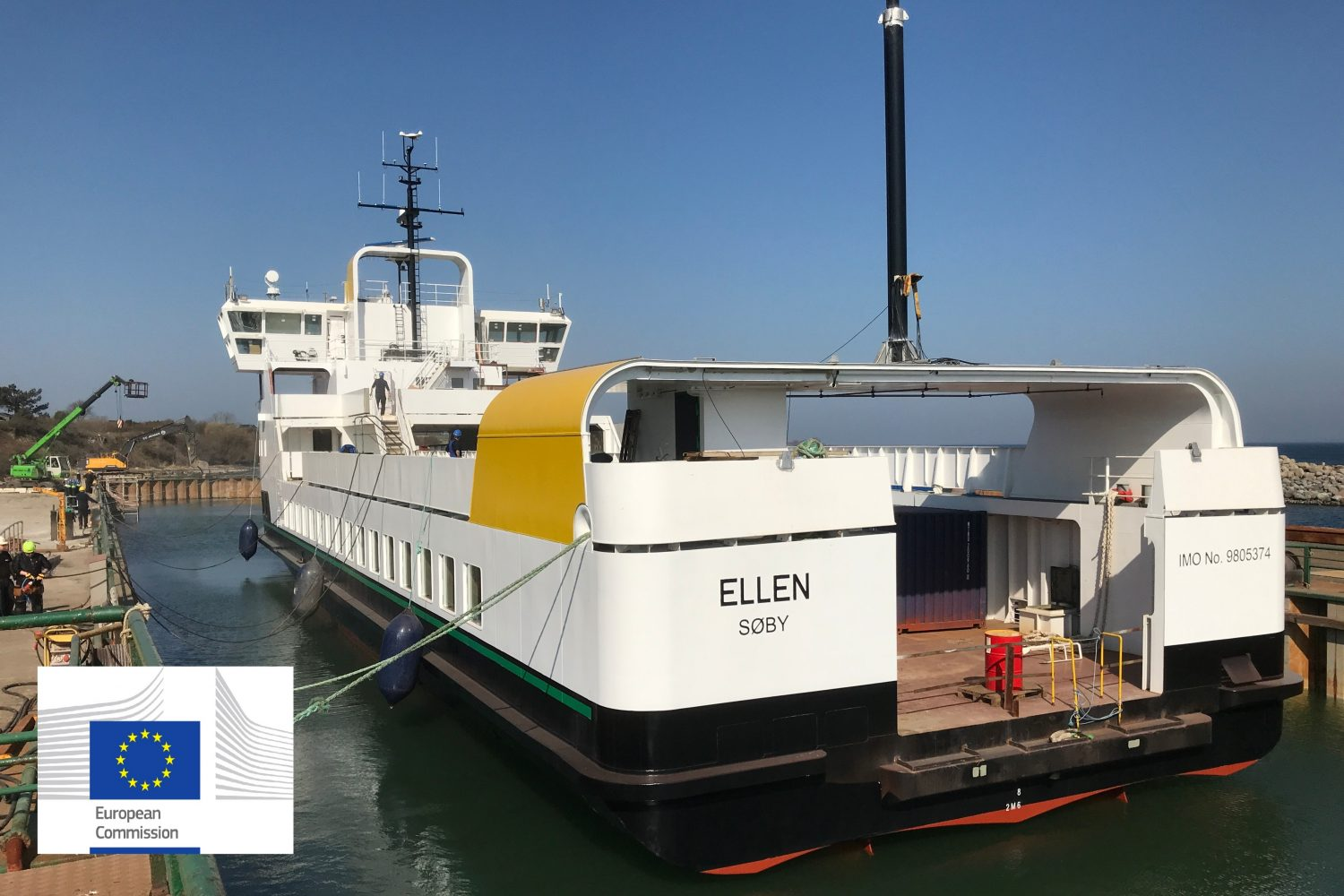 A view of the Ellen, Denmark's first fully electric ferry